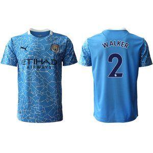 Manchester City Kyle Walker Blue 20-21 Jersey